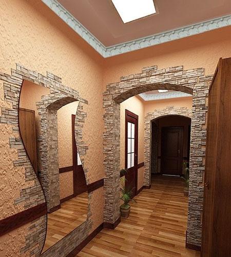Искусственный камень дизайн при отделке квартиры 150