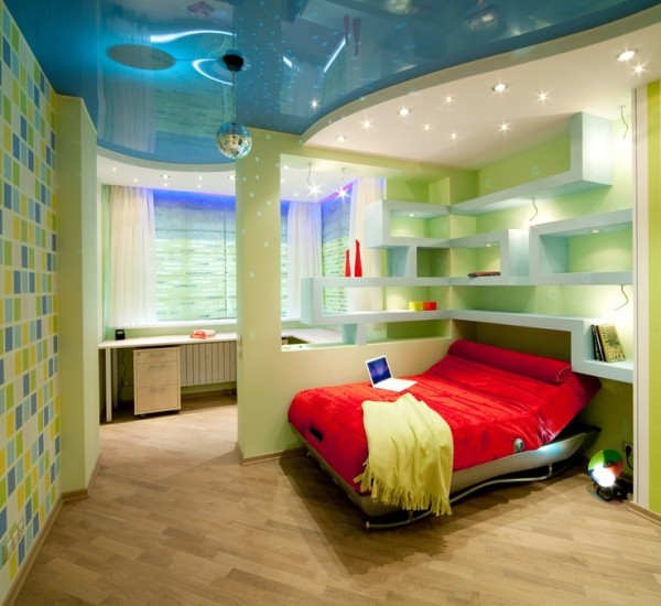 Child and youth room in disco style
