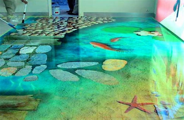 Наливные прозрачные полы