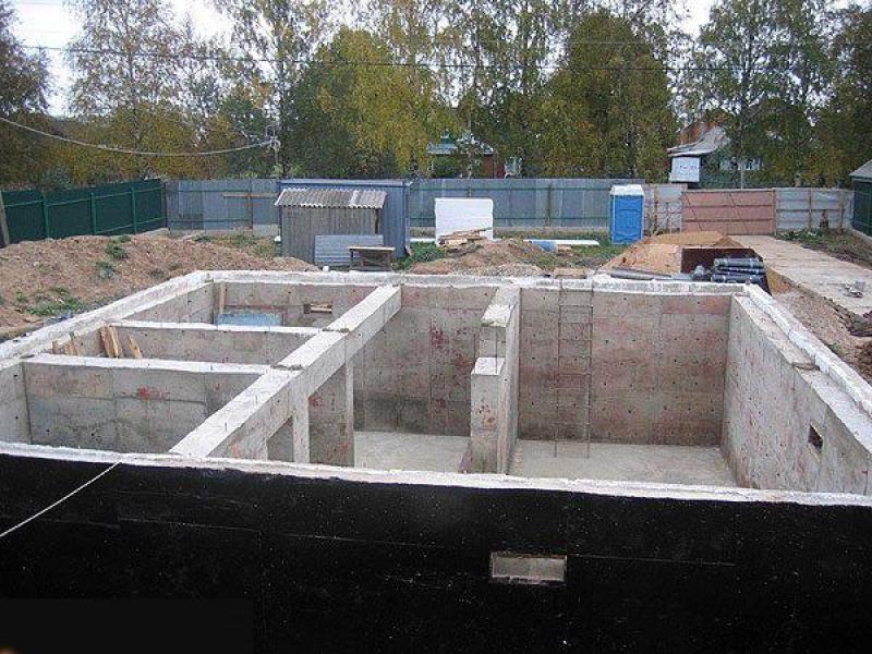 Фундамент с подвалом для дома 184