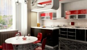 черно белая кухня дизайн фото