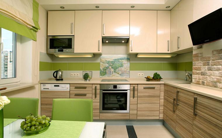 Дизайн кухни два в одном