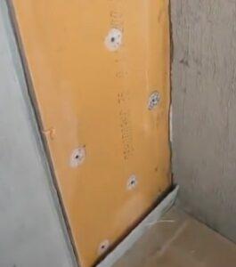 Вариант крепления пенопласта к стене