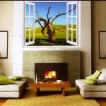 Фальш окно в домашнем интерьере — фото