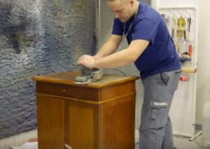 шлифование мебели