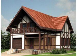 Отделка каркасного дома в стиле шале