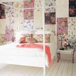 6 способов комбинирования обоев в спальне — фото