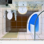 Дизайн ванной комнаты с душевой кабинкой 3 кв м.