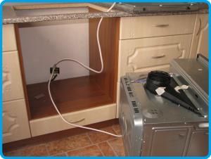 Подключение духового шкафа