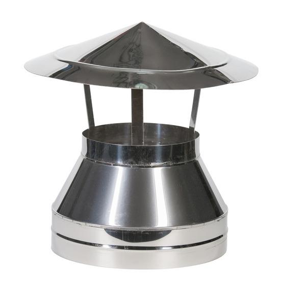 Виды зонтов на дымоход вариант установки коаксиального дымохода