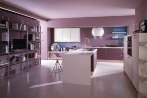 Фиолетово-сиреневая гамма в интерьере