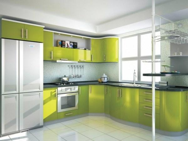 Кухня - зеленый цвет-2