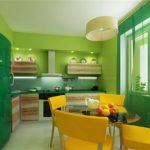 Кухня - зеленый цвет-4