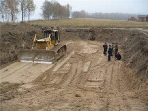 Разработка грунта в котловане