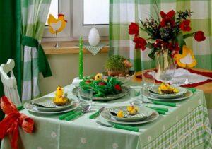 текстиль на праздничном столе