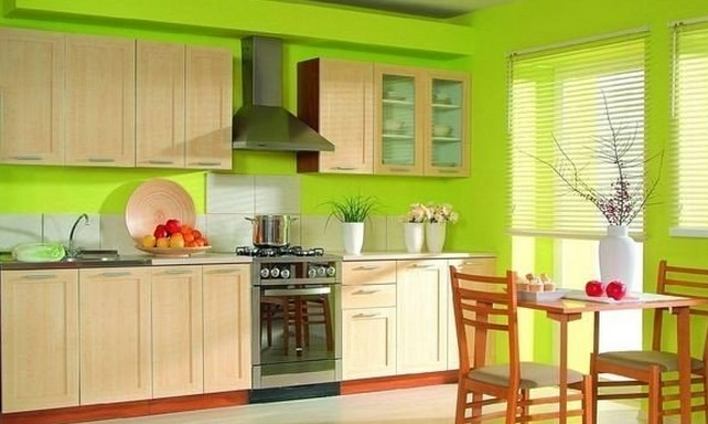 Зеленый цвет и кухни фото