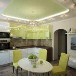 Зеленый цвет в интерьере кухни, фото дизайна