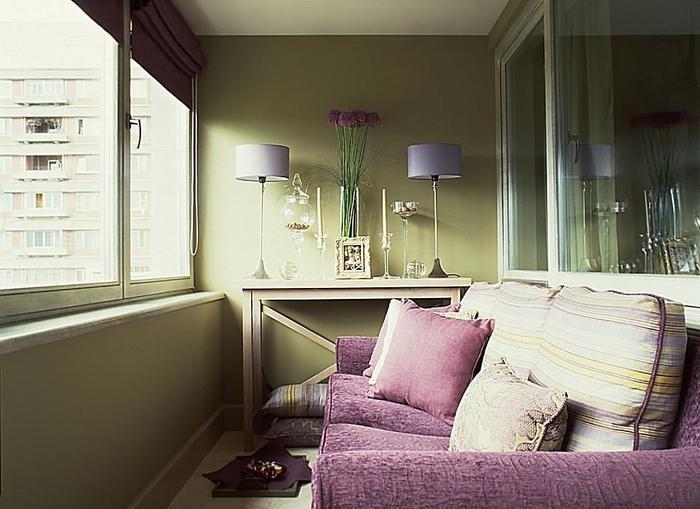 фото комната на балконе