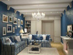 синих оттенков в дизайне