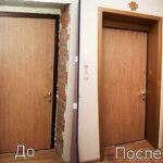 Установка доборов для межкомнатных дверей