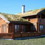 Дом из лафета. Норвежский замок.
