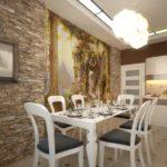 Чем отделать стены на кухне недорого в частном доме