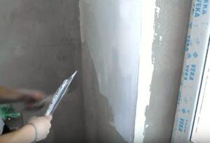 Шпатлевка стен под обои
