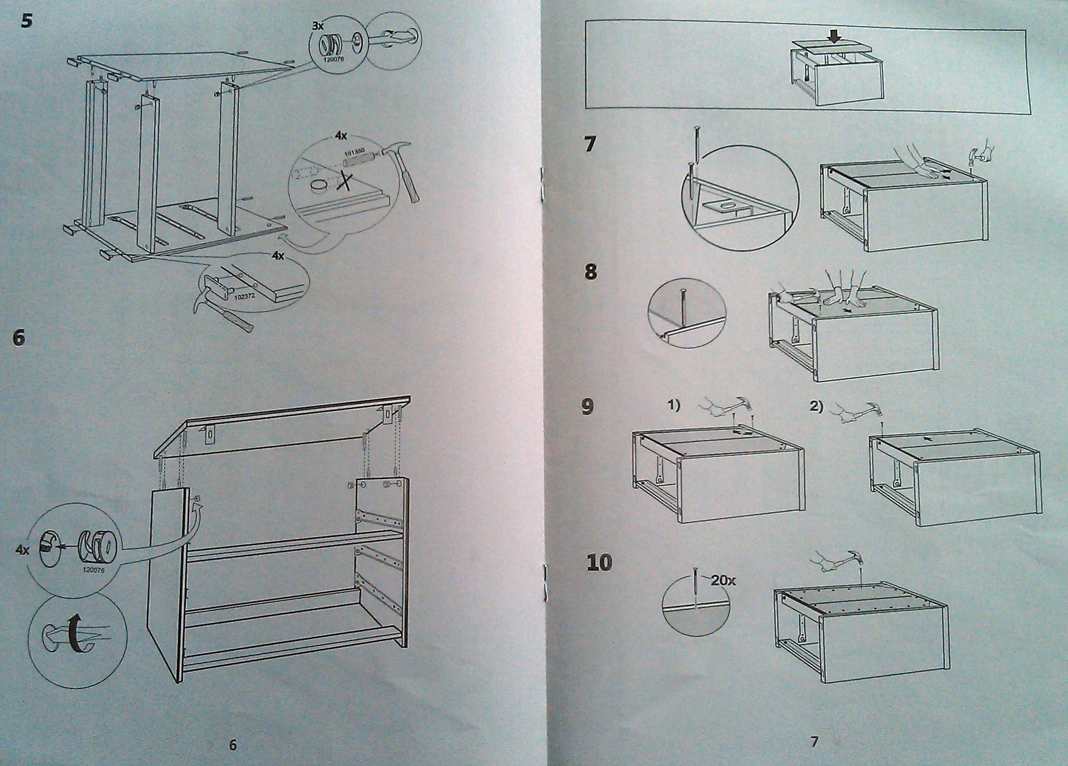 Схема сборки тодален шкаф 237