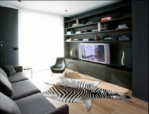 Дизайн комнаты для молодого человека в черно-белых тонах