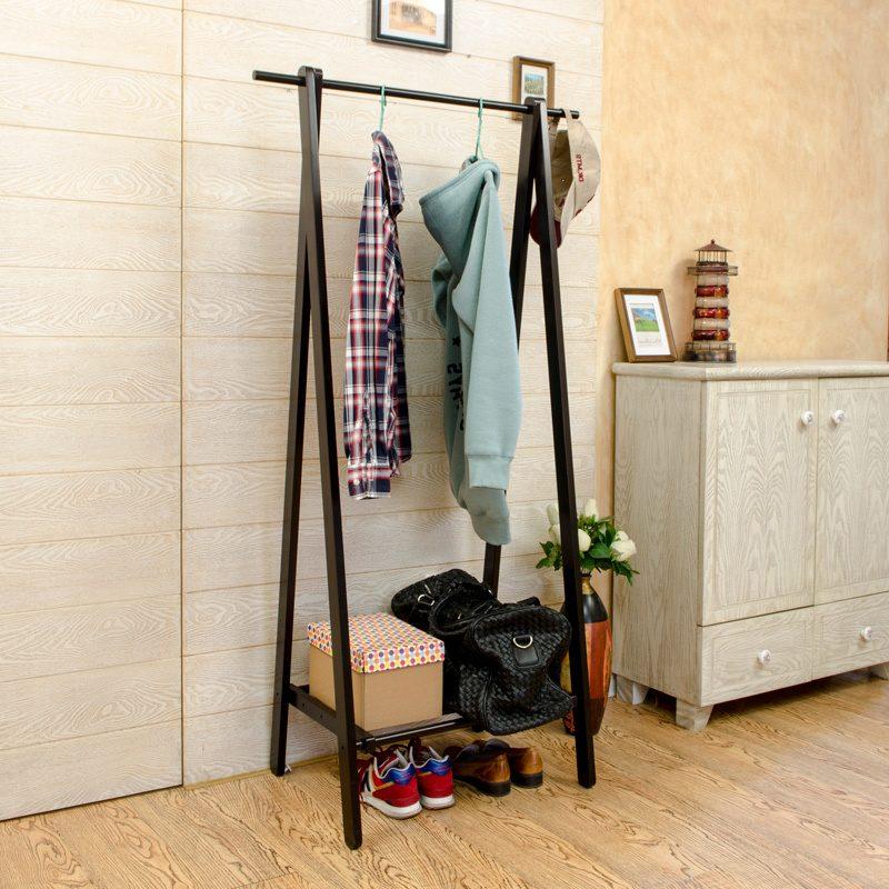 31Напольная вешалка для одежды своими руками из дерева видео