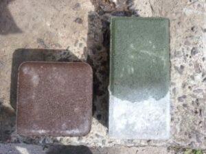 высолы на тротуарной плитке