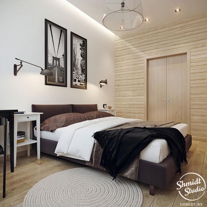 экологичный интерьер для спальни от Shmidt Studio