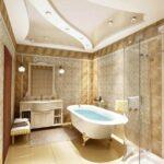 Навесные потолки в ванной комнате