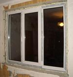 окно до отделки откосов