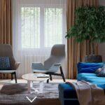 Дизайнерские идеи в трехкомнатной квартире