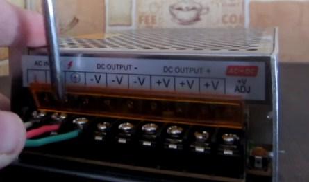 Подключение проводов к контроллеру