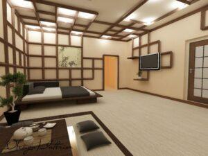 Дизайн проект в восточном стиле