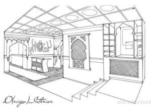 Дизайн проект в восточном стиле 7