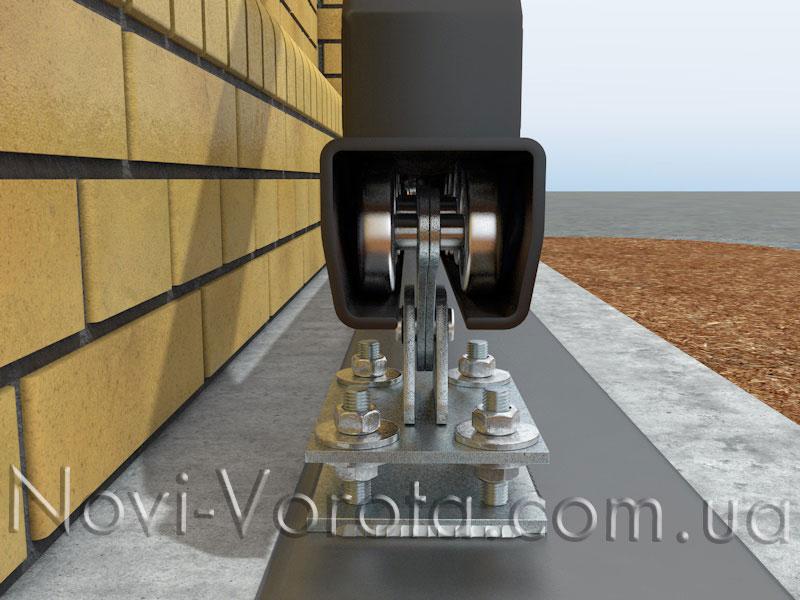 Элементы фурнитуры на откатных воротах