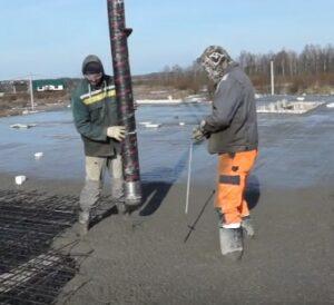 как заливают бетон в минусовую температуру