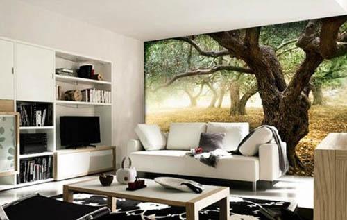 3д фотообои на стену - фото интерьера с 3D обоями 51546869feaaf