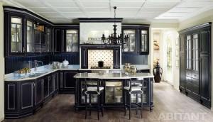 черно-белая кухня готика