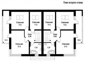 Блокированные дома, план 2