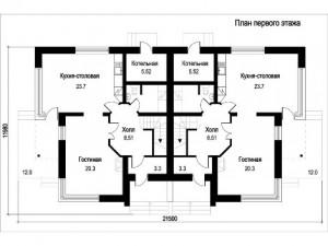 Блокированные дома, план