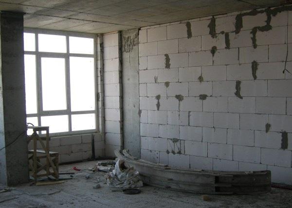 Кладка стен из пенобетона