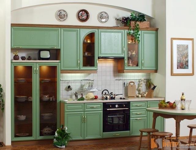 Ретро-кухня в зеленом цвете