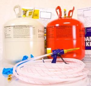 оборудованием Foam Kit
