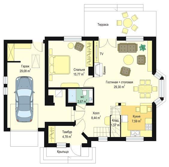 планировка проекта дома