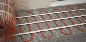 Монтаж и установка теплых электрических кабельных полов в ванной комнате