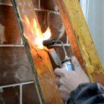 Очистка поверхностей от краски термическим способом